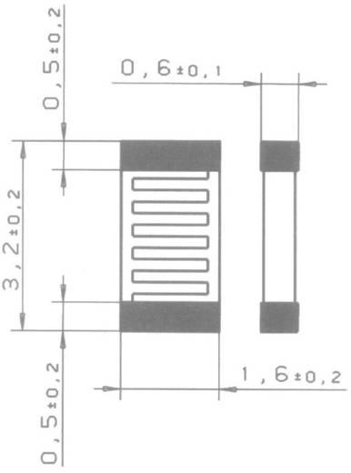 Hőmérséklet szenzor SMD 1206 PT1000