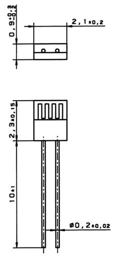 Huzalos platina hőmérséklet érzékelő M222 PT100 1/3 DIN