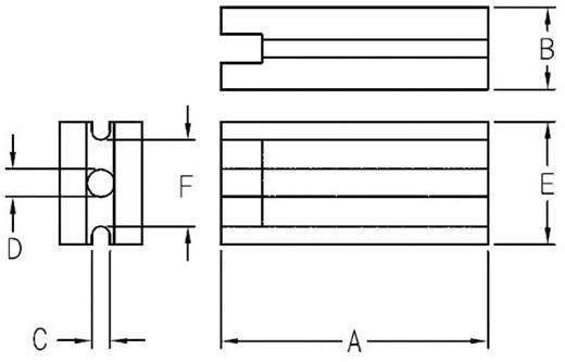 LED távtartó RM 3,6 mm, átlátszó, KSS LE-3