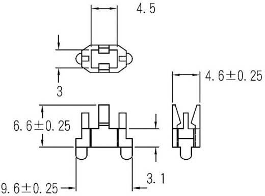 LED távtartó RM 4,6 mm, átlátszó, KSS LQT-3