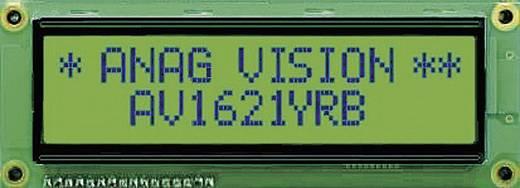 LCD pontmátrix kijelző modul 16x2, számmagasság: 8,06 mm, Anag Vision AV1621YRB-SJ