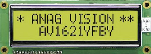 LCD pontmátrix kijelző modul 16x1, számmagasság: 8,06 mm, Anag Vision AV1611YFBY-WJ