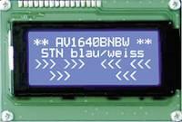 Szöveges kijelző kék-fehér Super Twist Nematik 98x60x13,6mm Anag Vision