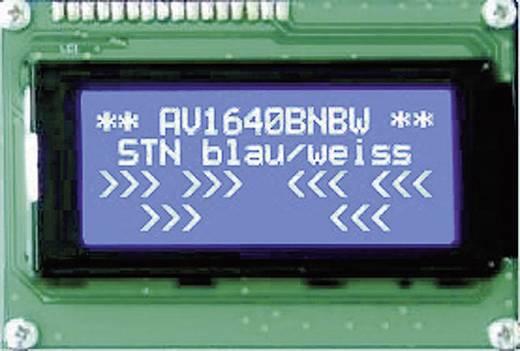 Szöveges kijelző kék-fehér Super Twist Nematik 190x54x13,6mm