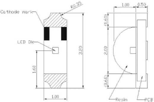 Harvatek HT-110IRPJ SMD IR-Emitter, 850nm, 1204