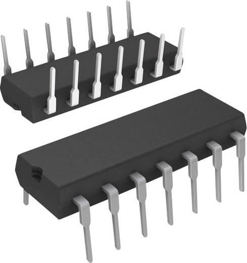 Nagy sebességű CMOS IC, 74-HCT XXX sorozat, ház típus: DIP-14, kivitel: 4 részes NAND kapu 2 bemenettel, 74HCT03
