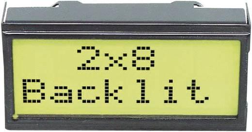Alfanumerikus LCD DOT-mátrix kijelző modul 2x8, számmagasság: 5,55 mm, sárga, EA DIPS082-HNLED