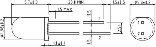 IR-Emitter Harvatek HE3-245AC Ház típus 5 mm Hullámhossz 940 nm