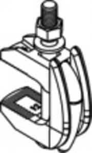 82009. cikk Félvezető öntöttvas F 9 horganyzott LINDAPTER kapocs F 9, kétrészes, horganyzott csavarokkal, anyákkal és