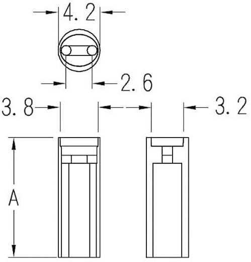 LED távtartó 3 mm-es LED-ekhez, átlátszó, KSS LD3-6