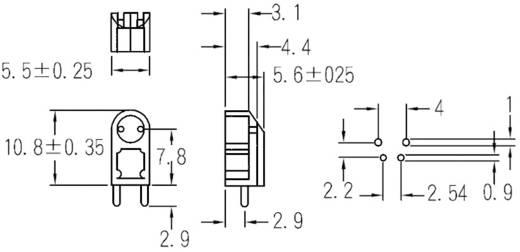 LED távtartó 3 mm-es LED-ekhez, natúr, KSS LG-8