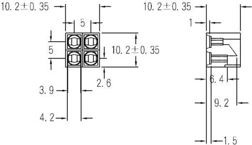 LED távtartó 3 mm-es LED-ekhez, fekete, KSS PLD4-3A
