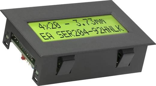 Kijelző modul RS-232 soros porttal, 4x20, számmagasság: 3,73 mm, Snap-In házban, EA SER204-92HNLEK
