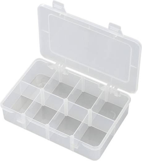 8 részes alkatrésztároló doboz, fehér, 181 x 117 x 39 mm