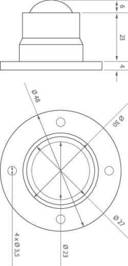 LED modul, 66 lm, 3°, 1 W, Ø 48 x 33 mm, melegfehér, LEDxON 9008246 ALUSTAR