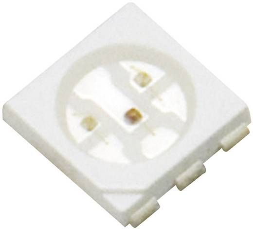Szuperfényes Top-View RGB LED PLCC6, 720/740/460 mcd, 120°, 3x20 mA, 1,8-2,4/3-3,6/3-3,6 V, 3528