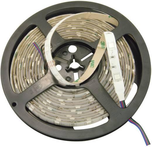Általános LED csík, öntapadó, 5 m, kiöntött kivitel 24 V/DC, borostyán