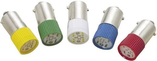 LED izzó, BA9s, 220 V, zöld, T10 BA9S Multi 4Chips Flat Lamp, Barthelme 70113244