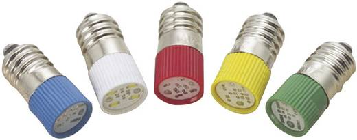 LED izzó, E10, 220 V, zöld, T10 E10 Multi 4Chips Flat Lamp, Barthelme 70113334