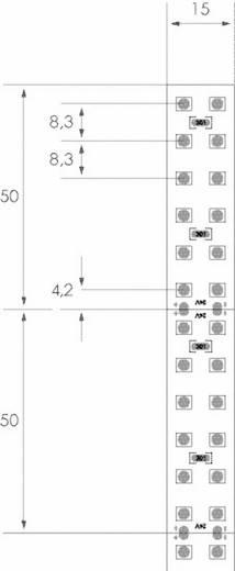 High-Power kettős SMD LED csík 24 V/DC, 5 cm/12 LED, szuper melegfehér, LEDxON 9009141