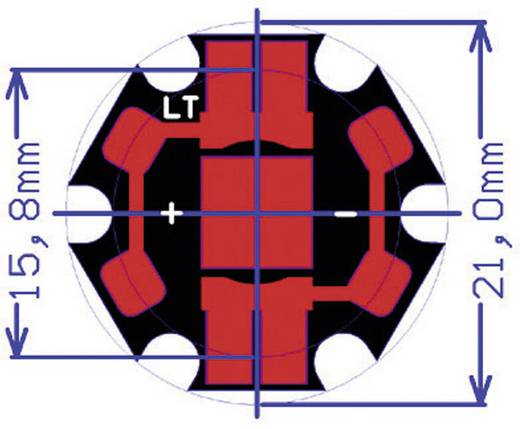 Cree XLamp XP-C LED csillag lapon 73,9 lm, 110-125°, melegfehér, CREE XPCWHT-L1-STAR-008E7