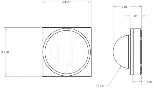 Cree® XLamp® XP-E HEW LED meleg-fehér, 114lm, 120 °, XPEHEW-L1-0000-00EE6