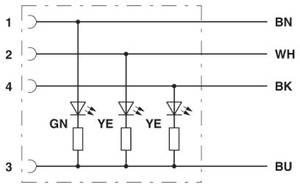 Phoenix Contact 1403967 Érzékelő-/működtető csatlakozóvezeték 10 m Pólusszám: 4 1 db (1403967) Phoenix Contact