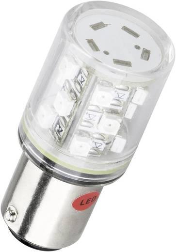 BA 15d foglalatú LED jelzőlámpa 6 db szuperfényes LED-del piros 24 V DC/AC Barthelme 52160211
