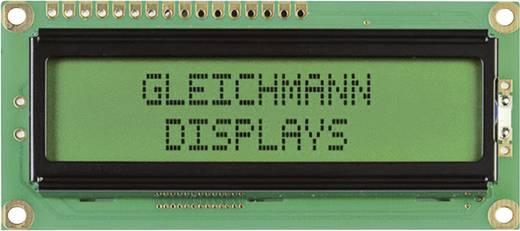 Alfanumerikus LCD modul 16 x 2 , szám magasság: 5,55 mm sárga/zöld, Gleichmann GE-C1602B-YYH-JT/R
