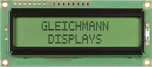 Alfanumerikus LCD modul 16 x 2 , szám magasság: 5,55 mm sárga/zöld, Gleichmann GE-C1602B-YYH-JT/R (GE-C1602B-YYH-JT/R) Gleichmann