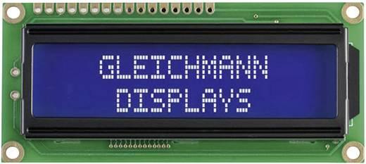 Alfanumerikus LCD modul 16 x 2 , szám magasság: 5,55 mm kék/fehér, Gleichmann GE-C1602B-TMI-JT/R