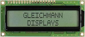 Alfanumerikus LCD modul 16 x 2 , szám magasság: 5,55 mm 3 színű, Gleichmann GE-C1602B-CFH-JT/R (GE-C1602B-CFH-JT/R) Gleichmann