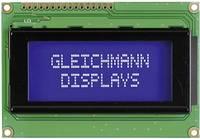 Alfanumerikus LCD modul 16 x 4 , szám magasság: 4,75 mm kék/fehér, Gleichmann GE-C1604A-TMI-JT/R (GE-C1604A-TMI-JT/R) Gleichmann