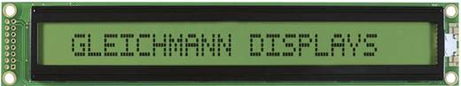 Alfanumerikus LCD modul 40 x 2 , szám magasság: 5,55 mm sárga/zöld, Gleichmann GE-C4002A-YYH-JT/R