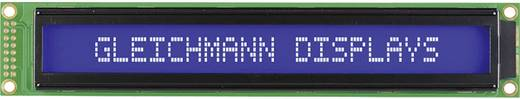 Alfanumerikus LCD modul 40 x 2 , szám magasság: 5,55 mm kék/fehér, Gleichmann GE-C4002A-TMI-JT/R