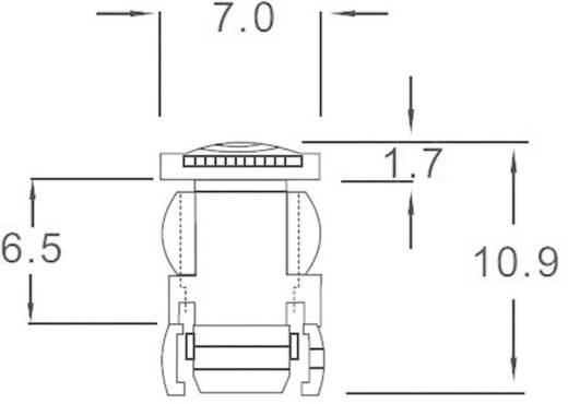 Átlátszó bepattintós sapka 5 mm-es LED-ekhez, előlapi szereléséhez, EDK-5A-PCW