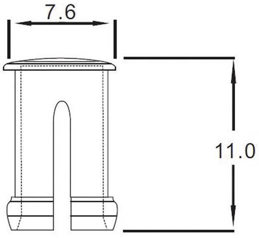 Átlátszó bepattintós sapka 5 mm-es LED-ekhez, előlapi szereléséhez, EDK-03-PCW
