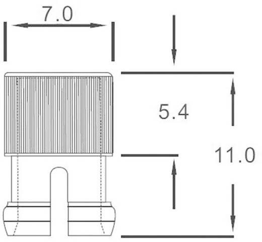 Átlátszó bepattintós sapka 5 mm-es LED-ekhez, előlapi szereléséhez, EDK-1A-PCW
