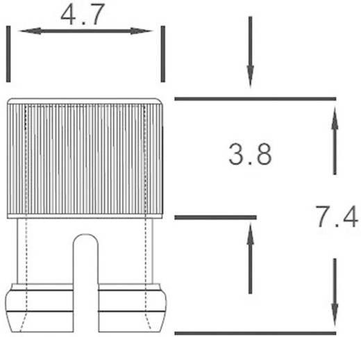 Átlátszó bepattintós sapka 3 mm-es LED-ekhez, előlapi szereléséhez, EDK-01-PCW