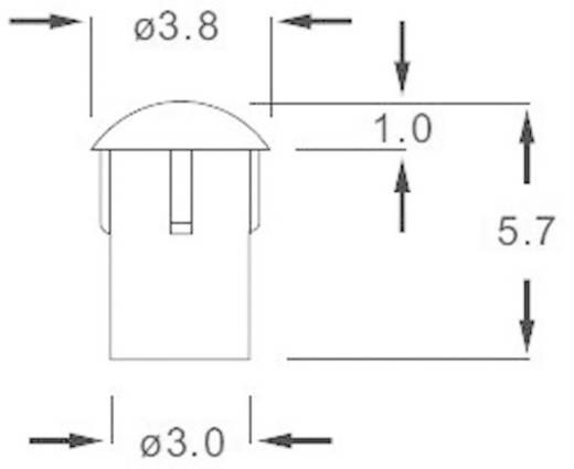 Fényvezető előlapi szereléshez Ø 3,8 x 5,7 mm, LEAD-18PZW