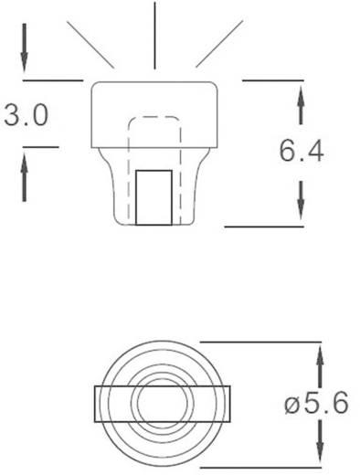 Fényvezető előlapi szereléshez Ø 5,6 x 6,4 mm, HHP-4C-PCW