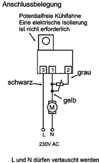Fordulatszám- és teljesítmény szabályozó, Triac szabályozó 230 V/50 Hz, Tru Components