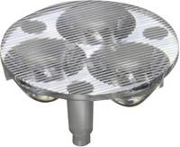 3 részes LED optika Luxeon Rebel-hez vagy Seoul Semiconductor Z5-höz 10 mm, 46,6x17°, Carclo 10510 (10510) Carclo