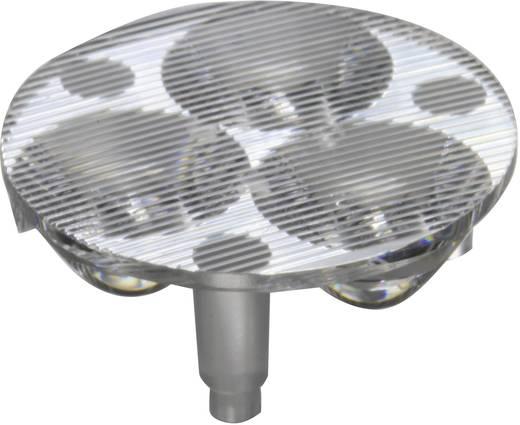 3 részes LED optika Luxeon Rebel-hez vagy Seoul Semiconductor Z5-höz 10 mm, 46,6x17°, Carclo 10510