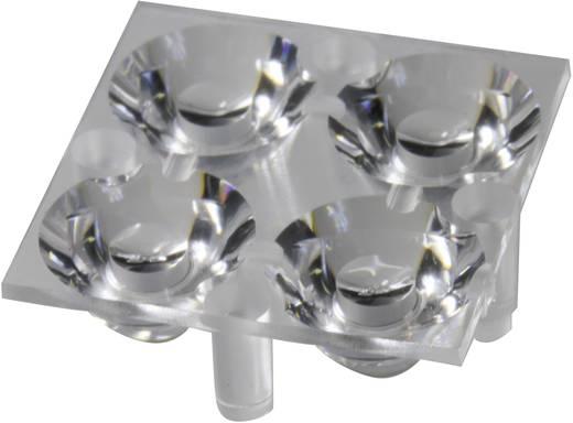 4 részes LED optika Luxeon Rebel-hez vagy Seoul Semiconductor Z5-höz 10 mm, 17,1°, Carclo 10611
