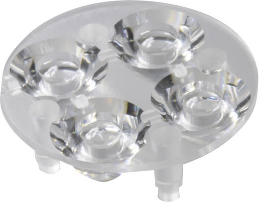4 részes LED optika Luxeon Rebel-hez vagy Seoul Semiconductor Z5-höz 10 mm, 16,4°, Carclo 10621