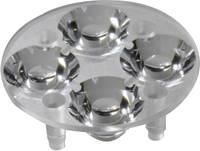 4 részes LED optika Luxeon Rebel-hez vagy Seoul Semiconductor Z5-höz 10 mm, 16,9°, Carclo 10622 Carclo