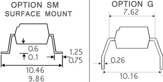 Optocsatoló 1 db fototranzisztorral, DIL 4, Isocom Components ISP817CX
