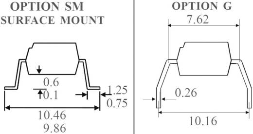 Optocsatoló 1 db fototranzisztorral, DIL 4 SMD, Isocom Components SFH615A-3XSM