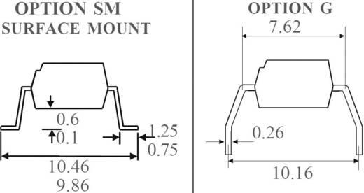 Optocsatoló triakkal, DIL 6 SMD, Isocom Components MOC3023XSM